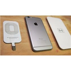 CARGADOR INALAMBRICO WIRELESS + RECEPTOR P/ CELULAR iPHONE i6 PLUS