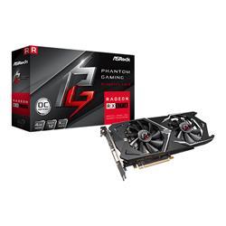 PLACA VIDEO PCI-E ASROCK RX 570 RADEON PHANTOM GAMING 2FANS 4GB HDMI DVI 3 DP (90-GA0K10-00UANF)
